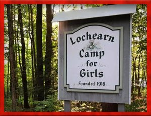Camp Lochearn for Girls sign
